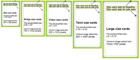 card template for standard paper size card dimensions design