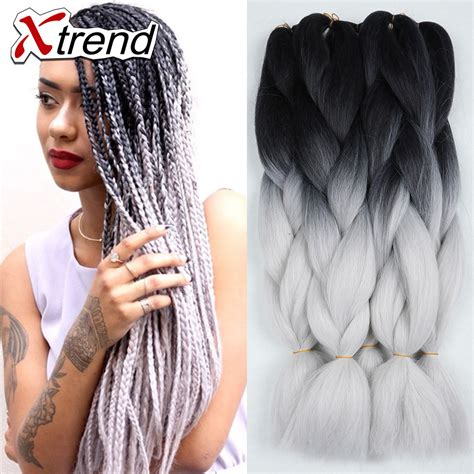 24 braids ideas braid 24 quot 100g ombre kanekalon braiding hair for box braids hair