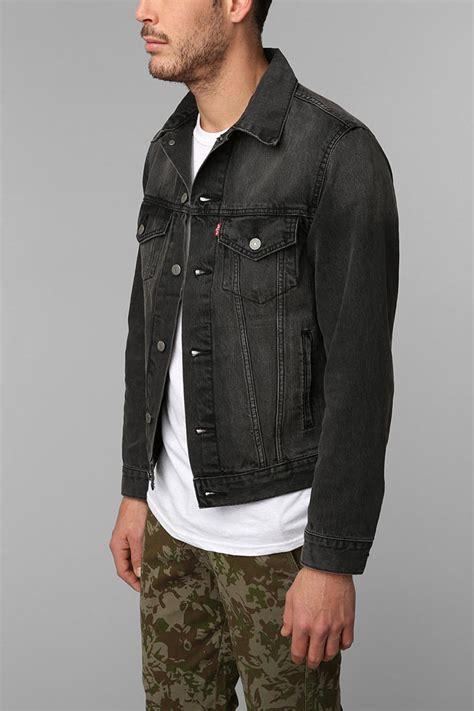 Denim Washed Jacket lyst outfitters levis washed black denim trucker