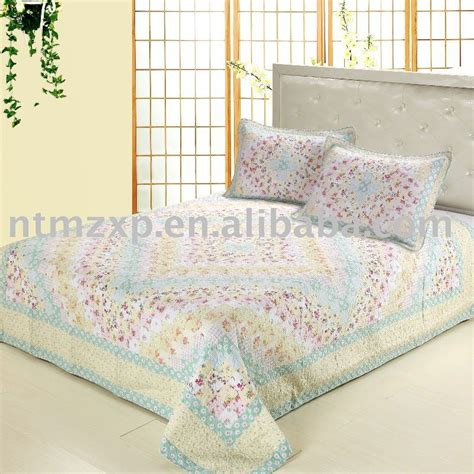 Patchwork Bedding Set - light blue checkboard patchwork bedding set quilt