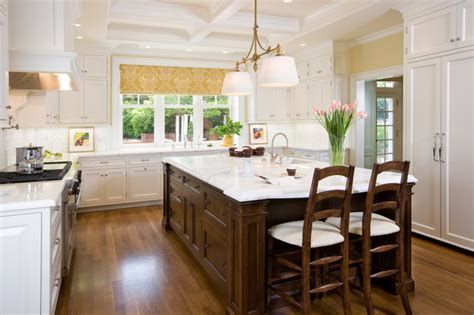 island counter traditional kitchen san francisco kitchen island with carrara mable countertop traditional