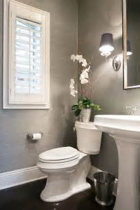 ideas bathroom pictures pinterest downstairs half bath wainscoting wallpaper gray cabinet sconces small bathroom