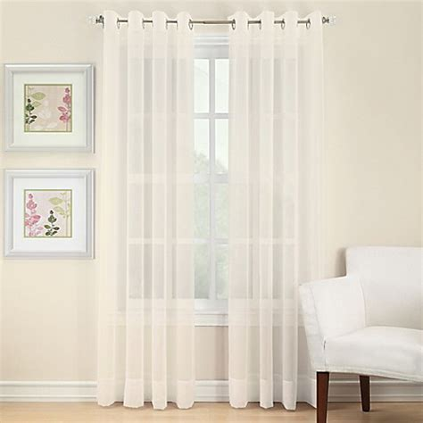 bed bath and beyond sheer curtains voile sheer grommet window curtain panel bed bath beyond