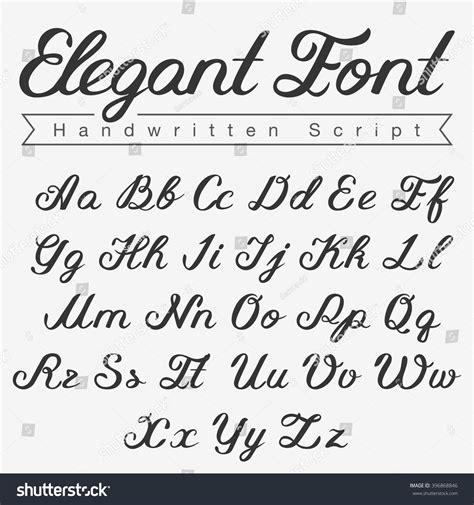 Wedding Font Capital by Handwritten Script Font Design Vector Calligraphy