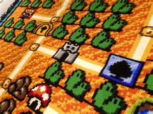 mario bros rug a fan spent 6 years this detailed mario bros 3 blanket