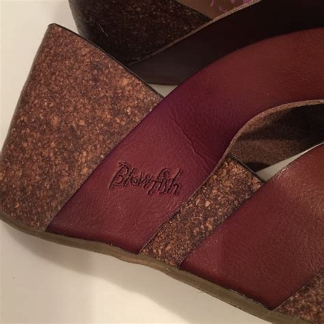 Wedges Brukat On29 9 50 blowfish shoes blowfish brown wedge sandal size 9 excellent from material s closet