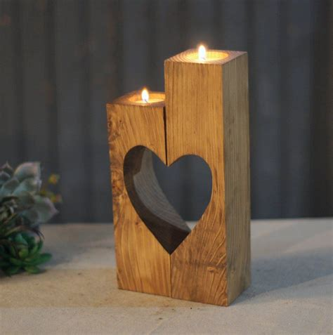 candel holder reclaimed wood cut out candle holder wooden cubes