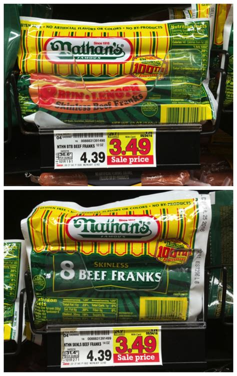 nathans dogs nathan s dogs only 1 75 at kroger with b1g1 coupon kroger krazy