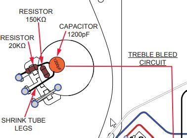telecaster wiring diagram with treble bleed wiring