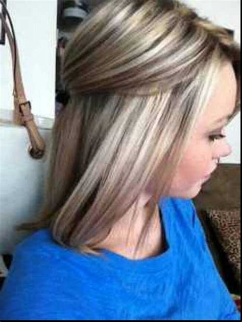 lowlights for blonde hair 40 blonde and dark brown hair color ideas hairstyles