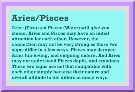 aries and pisces compatibility pisces love match