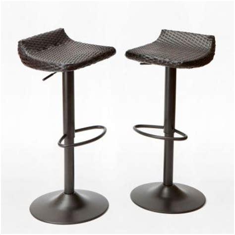 hton bay outdoor bar stools hton bay carol stream 42 in bar patio stool 2 pack