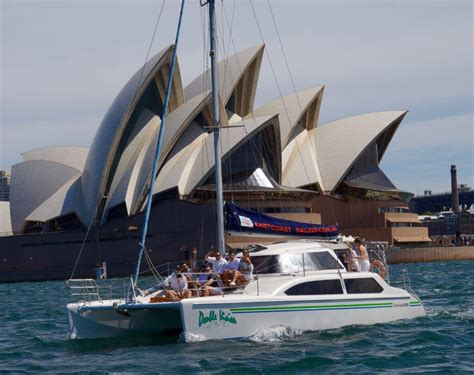 sailing boat hire sydney harbour seawind 1000 catamaran charter eastcoast sailing
