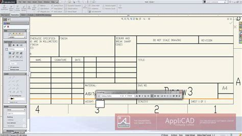Applicad Indonesia Solidworks Tips Trick Pembuatan Template Drawing Pada Solidworks Youtube Solidworks Drawing Template