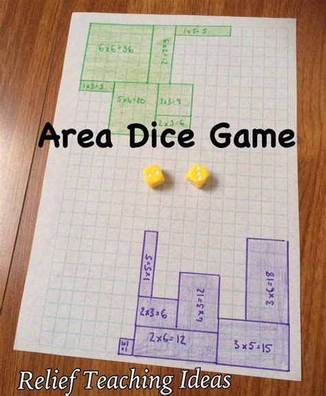 printable area and perimeter games area dice game dice games activities pinterest the