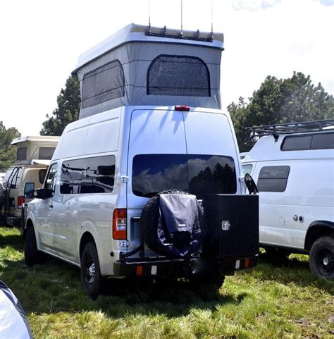 nissan box van this nissan cer van was the highest pop top we saw at