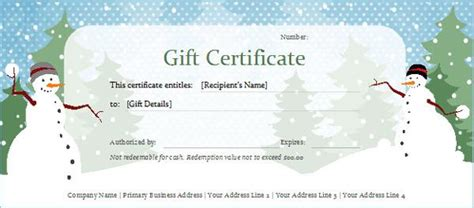 doc 687314 homemade gift certificate templates christmas