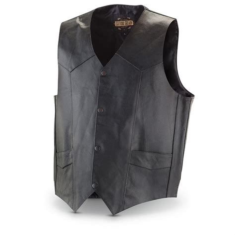 black concealment leather concealment vest 300178 vests at sportsman s guide