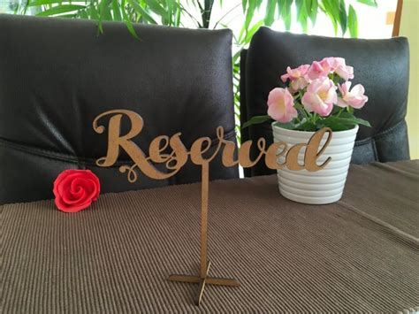 wooden reserved table signs wedding reserved sign reserved sign wood standing