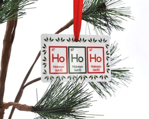 ho ho ho periodic table christmas ornament science chemistry