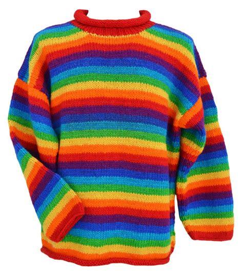 rainbow jumper striped jumpers at black yak