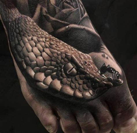 3d cobra tattoo 3d snakes tattoo foot ideas tattoo designs