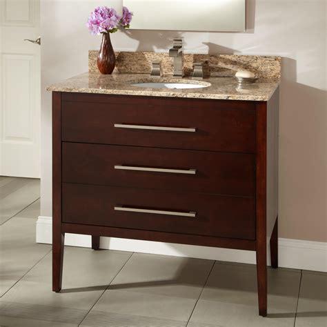 Walnut Bathroom Vanities 36 Quot Wiley Walnut Vanity For Undermount Sink