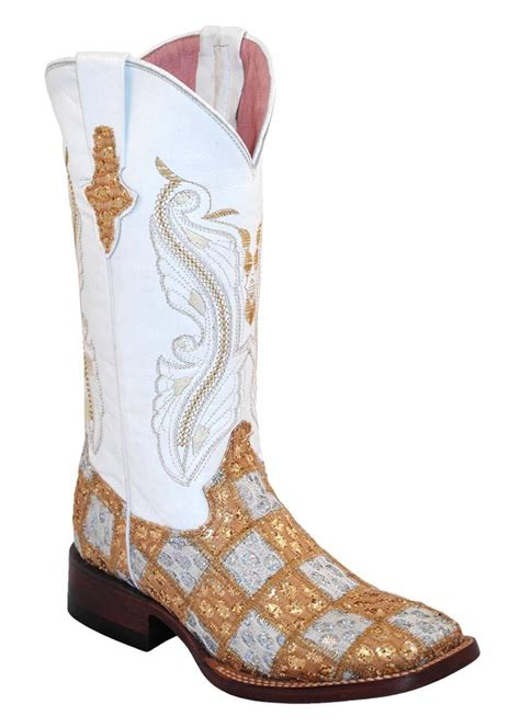 Ferrini Patchwork Boots - ferrini western cowboy boots womens patchwork square toe