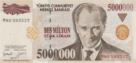 5 million turkish lira note world banknotes coins