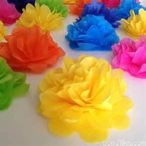 diy de jolies fleurs en papier de soie