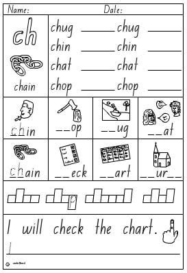 activity sheet digraph ch english skills online