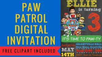 How to make a paw patrol digital invitation includes free clipart