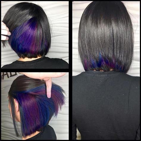 short hairstyles with peekaboo purple layer best 25 purple peekaboo highlights ideas on pinterest
