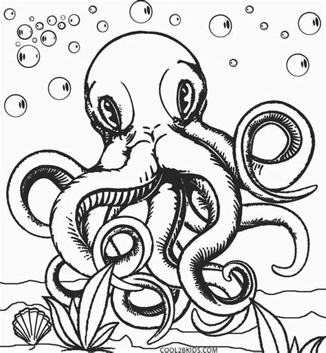 Coloring Page Octopus by Printable Octopus Coloring Page For Cool2bkids