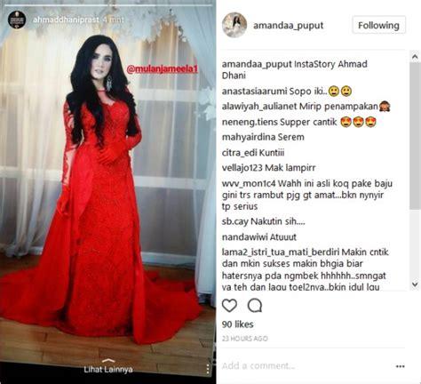 film horor gaun merah ahmad dhani pamer mulan bergaun merah netter sindir mirip