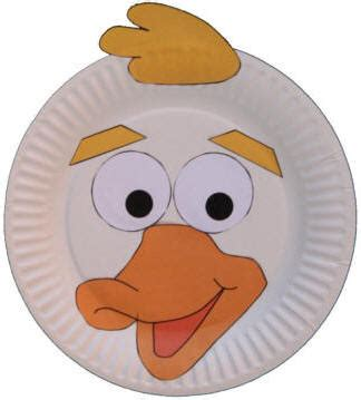 Duck Paper Plate Craft - paper plate animal crafts
