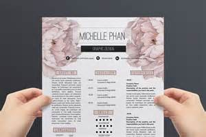 Resume 1 Page Template by Floral Cv Template Resume Template By Chic Templates
