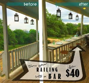 Apartment Blueprints by Turn Your Railing Into A Quot Eat Up Quot Bar Rhyne Farm