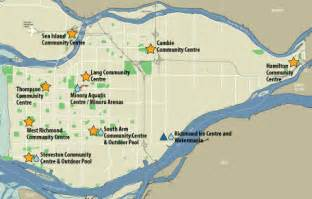 richmond canada map city of richmond bc locations map