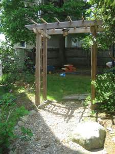 backyard arbor build a wooden garden arbor