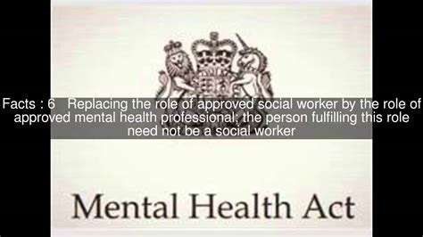 section 5 2 mental health act mental health act 2007 top 14 facts youtube