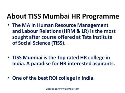 Courses Offered By Tiss For Mba by All You Need To About Tiss Selection Procedure Gkmojo