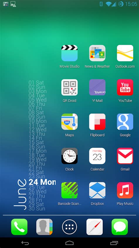 nova launcher ios7 theme apk andromoders download android app ios7 for apex adw