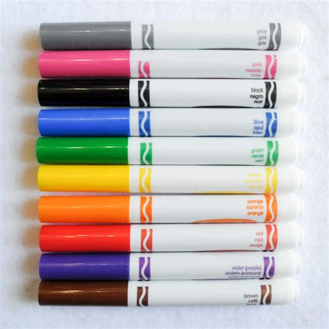 color markers crayola broad line markers what s inside the box
