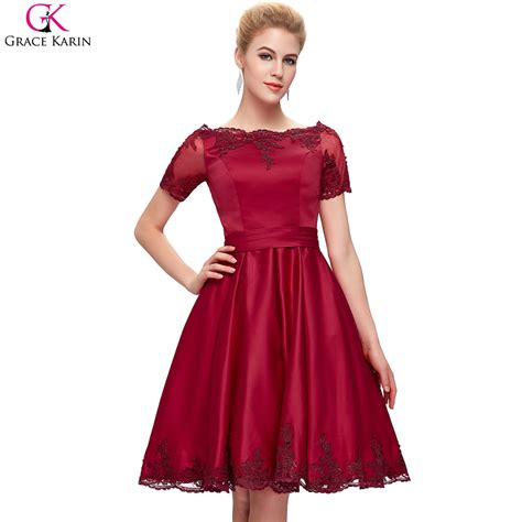 plus size cocktail dress with sleeves aliexpress com buy grace karin cocktail dresses sleeves