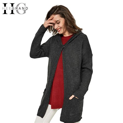 Sweater Rajut Grand Wish hee grand autumn knitted cardigan sleeve oversize cardigans hooded sweaters