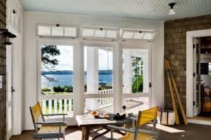 Three season porch beach style porch portland maine by whitten