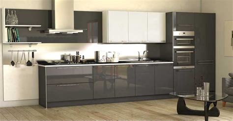 High Gloss Grey Kitchen Cabinets by High Gloss Kitchen Cabinet Grey Http Makerland Org