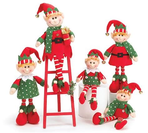 augustusreveredexalted look 5 piece plush christmas elves