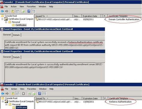 ldapdomain controller certificates kerberos